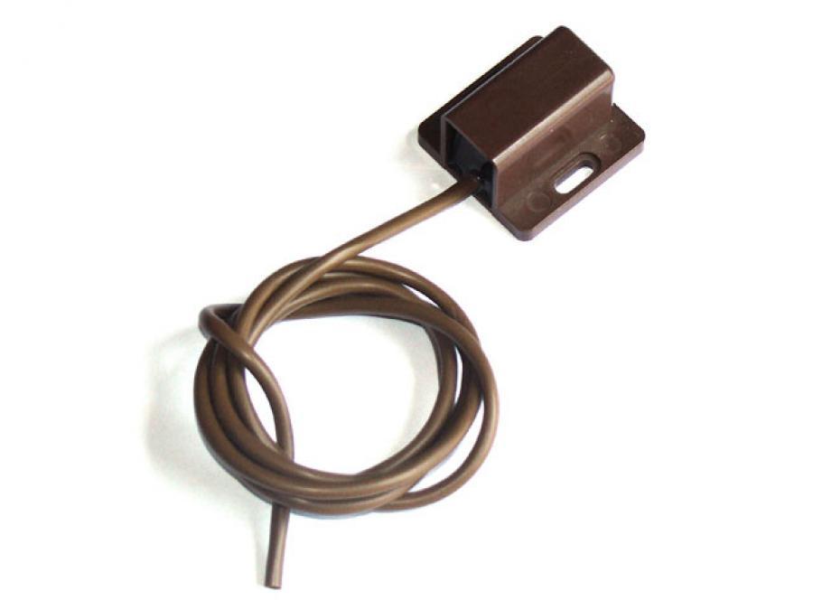 Sensore inerziale antifurto sismico per grate, inferriate e vetrate Colore: MARRONE