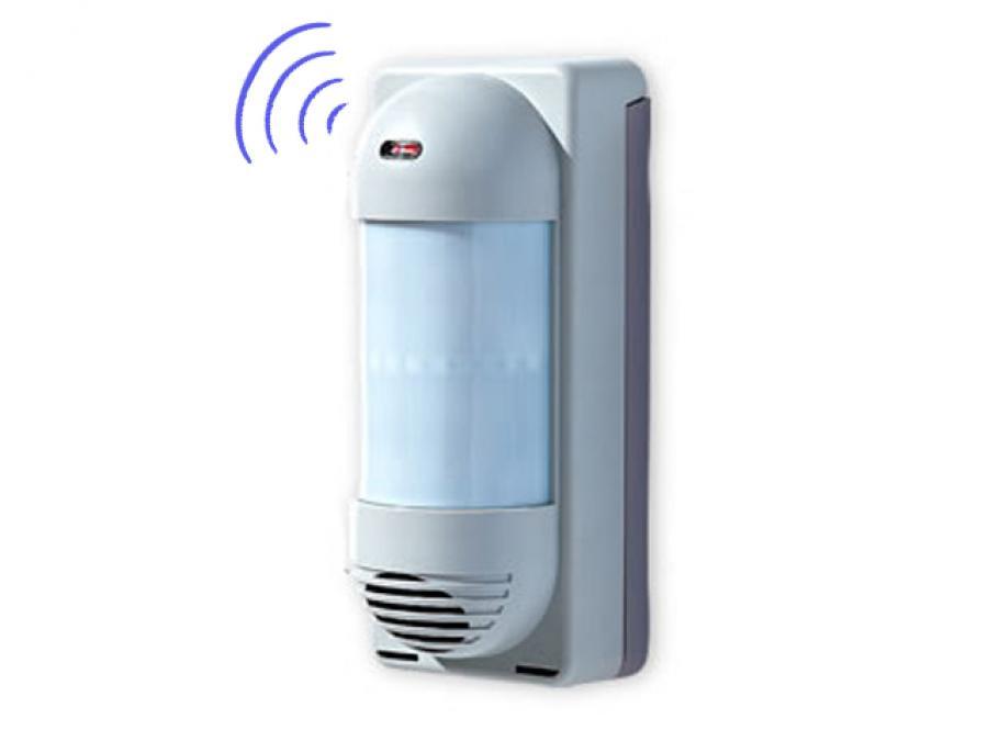 Perimetrale volumetrico esterno wireless ad infrarossi con protezione Pet Immune