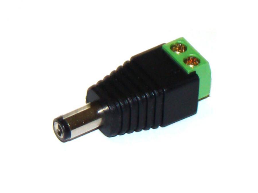 Morsetto con uscita connettore Maschio per Alimentazione Telecamere