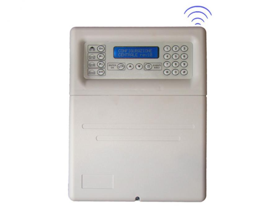 Centrale di allarme wireless 64 zone radio, 8 zone filo e combinatore GSM integrato