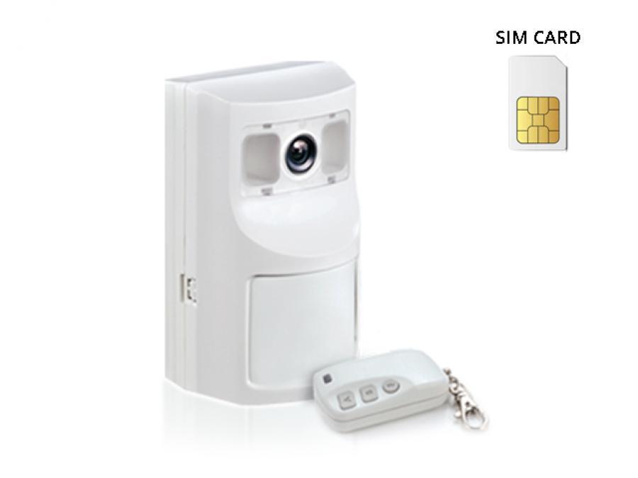 Antifurto wireless tutto in uno con Sensore, Combinatore telefonico GSM e Fotocamera