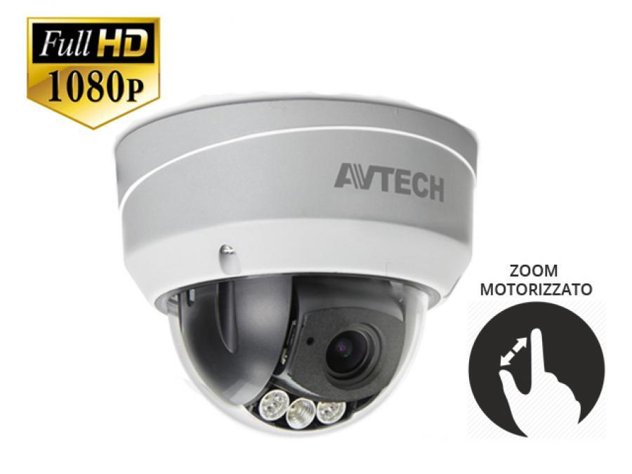 Dome camera videosorveglianza professionale esterno analogica Varifocal motorizzato HD-TVI Sony CMOS 2 Megapixel Full HD
