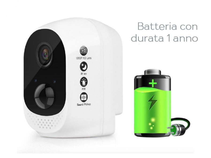 IP Camera a Batteria 100% senza fili da esterno 1 Anno