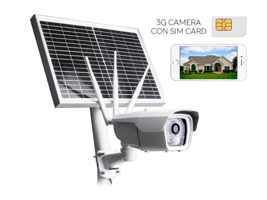 Telecamera 4G con SIM da esterno con Pannello Solare