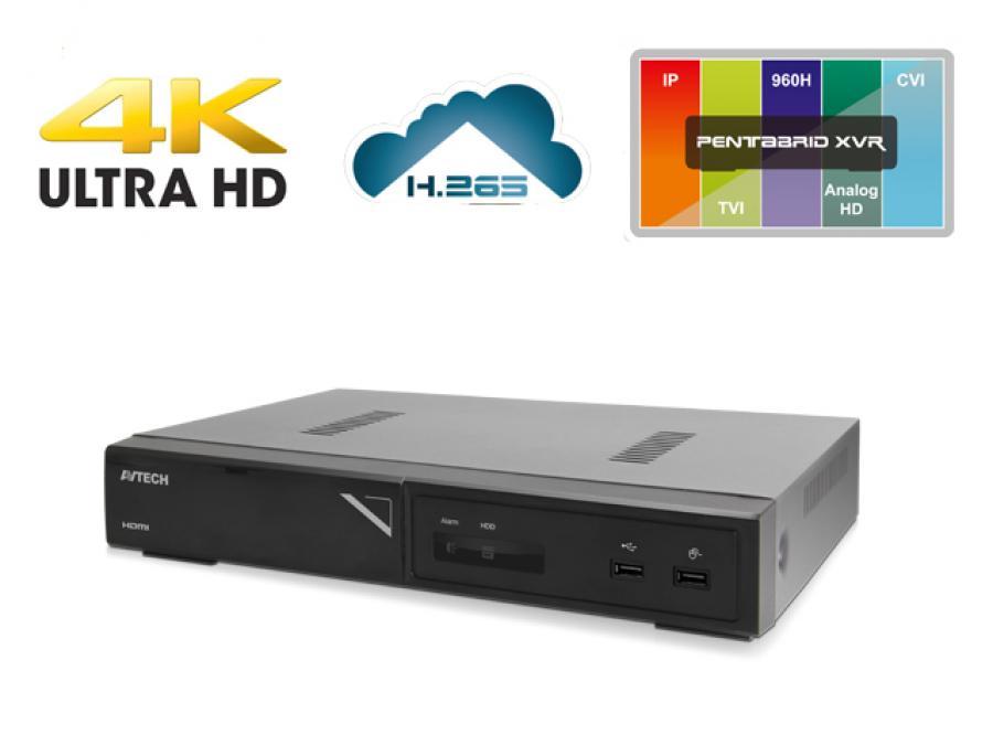 DVR 8 Canali h265 4K LAN visione da cellulare e web cloud con allarme Push Video