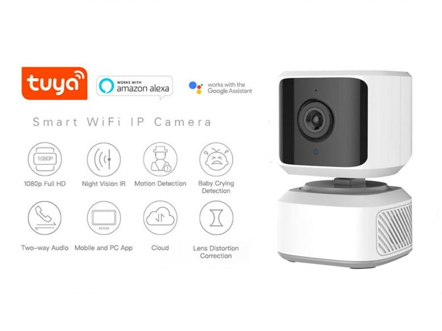 IP Camera P2P WIFI interno motorizzata con brandeggio Pan/Tilt Full HD 1080p con auto-tracking App