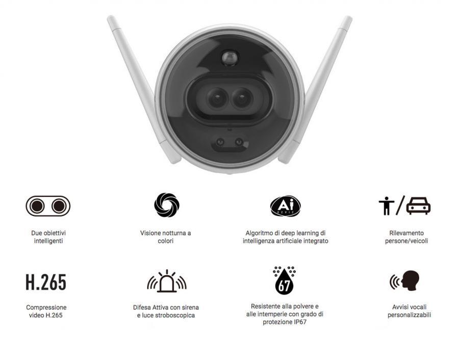EZviz telecamera wireless c3x caratteristiche