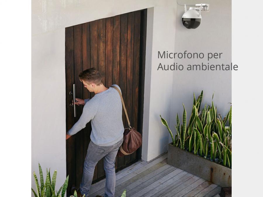Telecamera videosorveglianza con audio