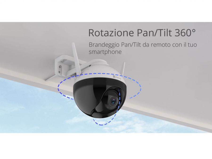 IP cam con brandeggio pan tilt da esterno