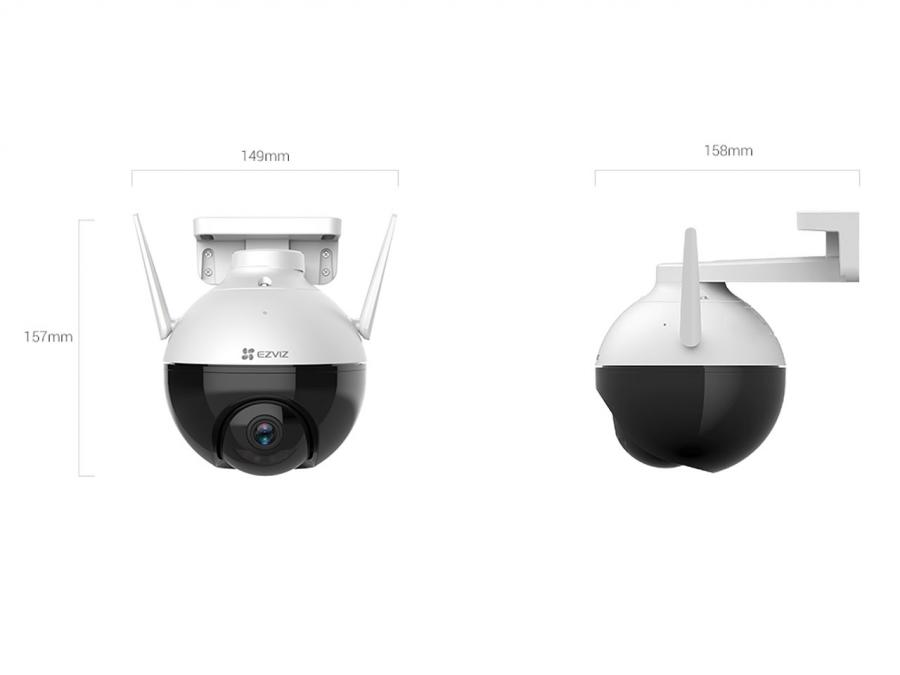IP camera ezviz c8c dimensioni