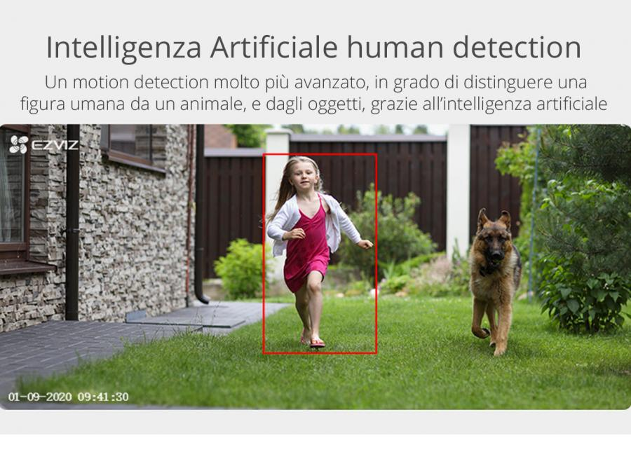 Telecamera IP wifi con intelligenza artificiale
