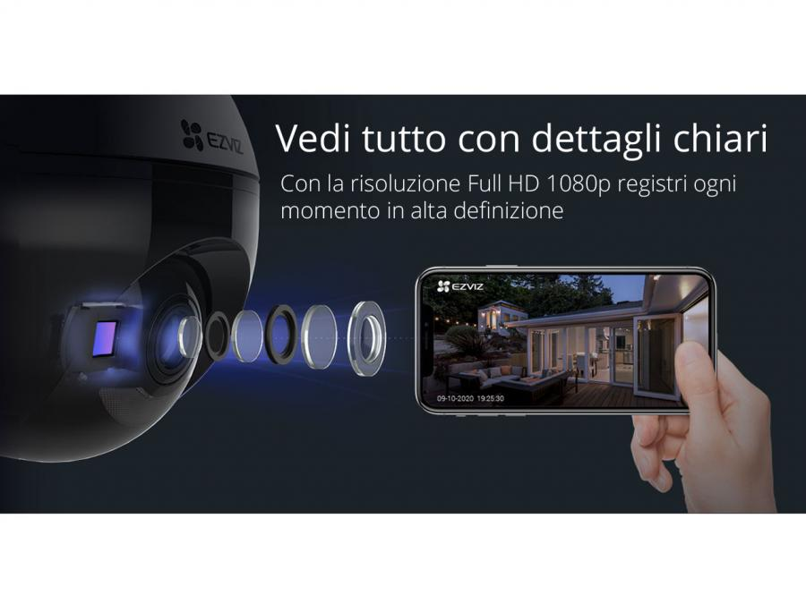 IP camera wifi da esterno full hd