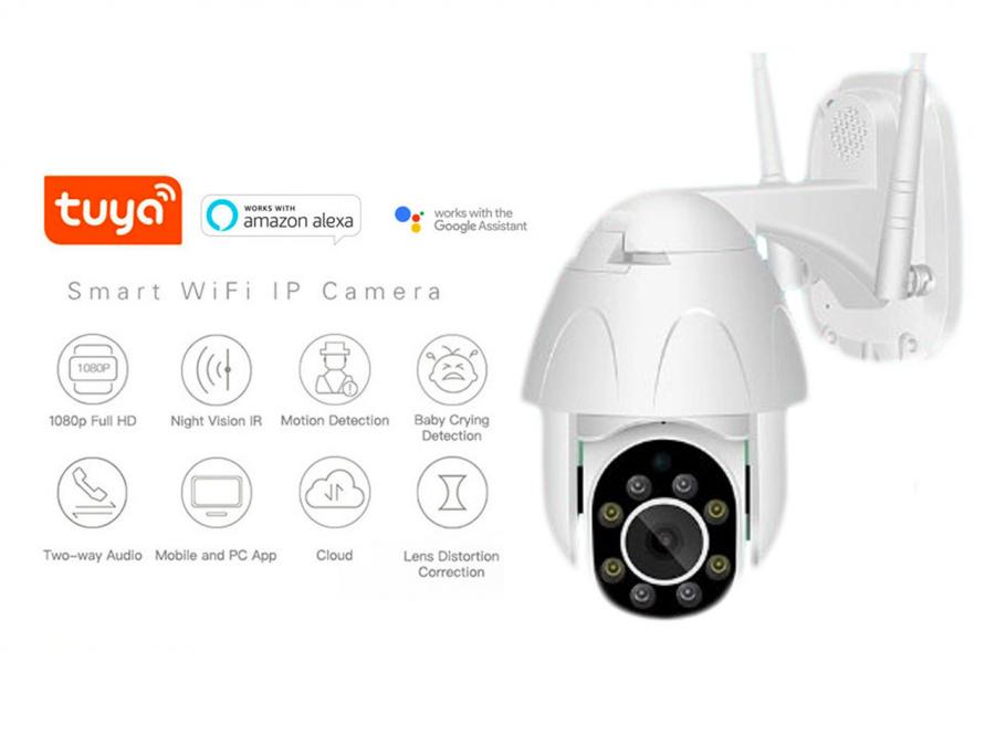 IP Camera P2P WIFI esterno motorizzata con brandeggio Pan/Tilt Full HD 1080p con auto-tracking App