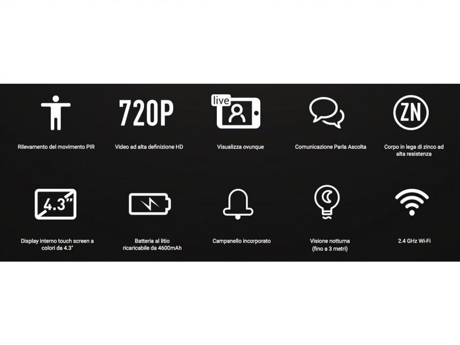 Kit telecamera a spioncino HD WIFI