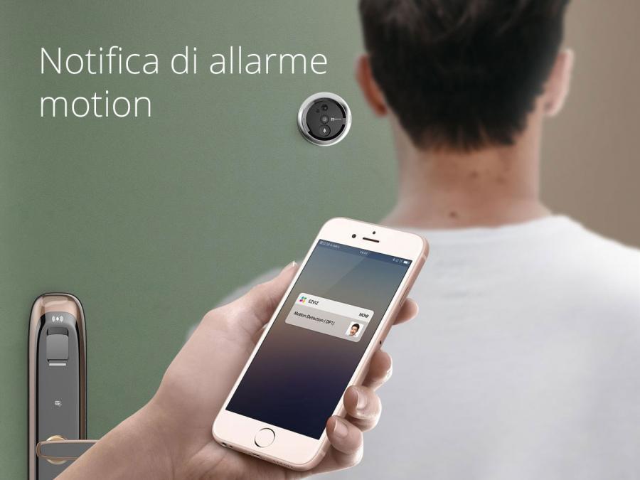 Spioncino wifi a batteria con pir motion detection