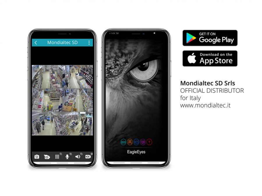 Avtech EagleEyes app smartphone android e iphone