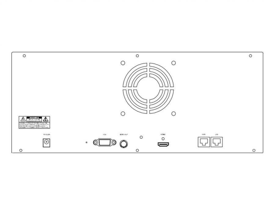 NVR 36 canali IP Camera pannello retro