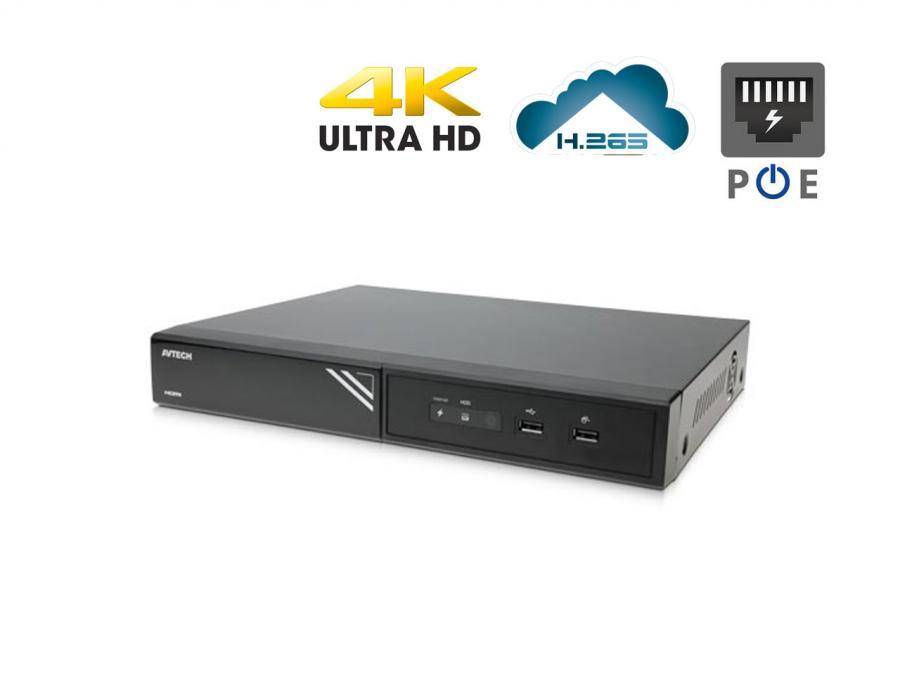 NVR IP PoE 16 Canali OnVIF h265 con avviso di allarme Push Video