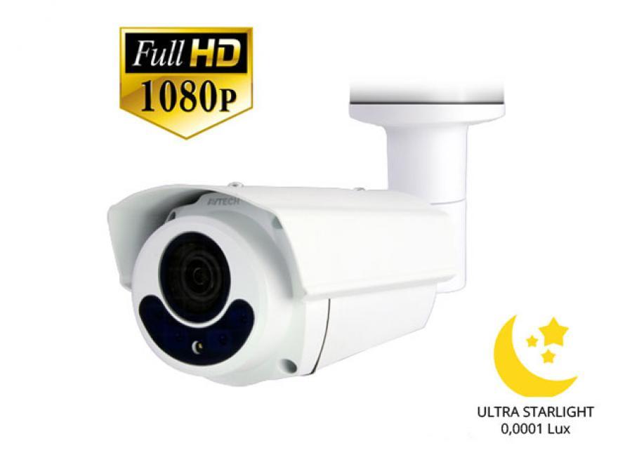 IP Camera PoE 2 Megapixel Full HD professionale da esterno con funzione Ultra Starlight (senza LED)
