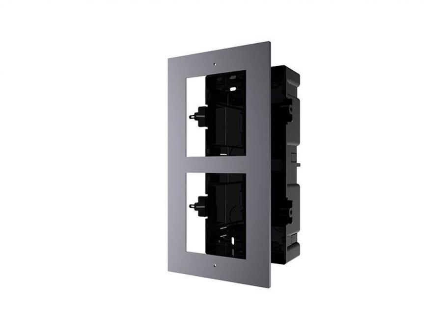 cornice ad incasso a 2 moduli per videocitofono IP
