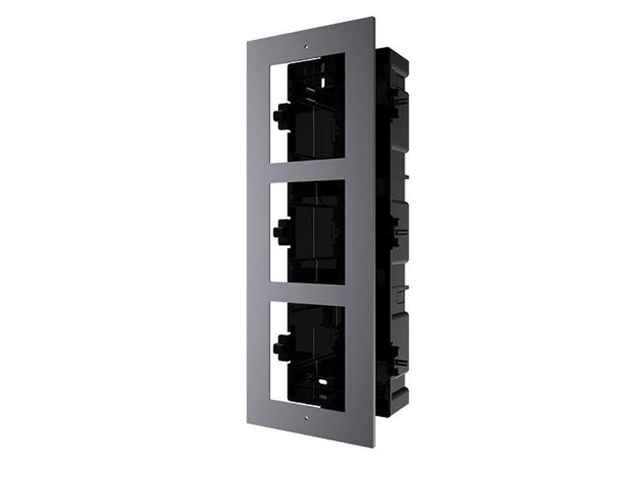cornice ad incasso a 3 moduli per videocitofono IP