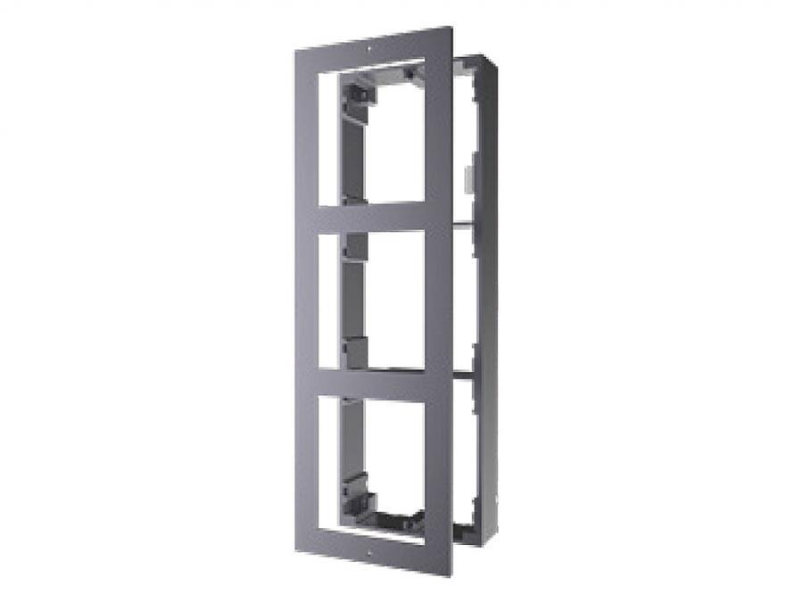 cornice a parete 3 moduli per videocitofono IP